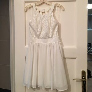 Urban Outfitters Dresses & Skirts - Open back, high neck white dress