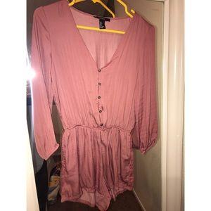 Silk pink romper