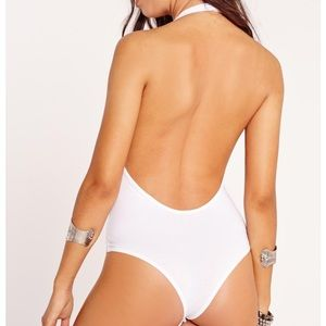 Missguided Other - Missguided White bodysuit halter