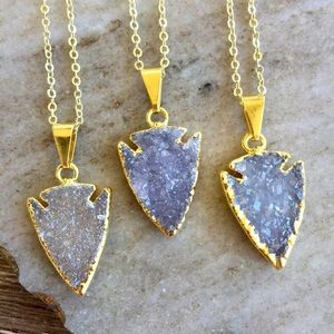 Simple Sanctuary Jewelry - ✨Petite Druzy Arrowhead Necklace✨