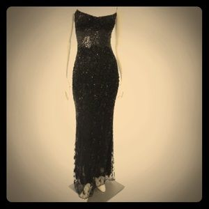 Badgley Mischka long sequin special occasion gown