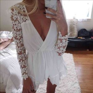 Dresses & Skirts - Lace and chiffon romper