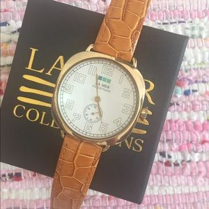 La Mer + Anthro Gold Watch