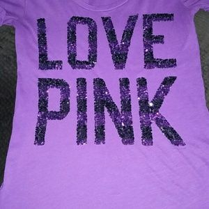 PINK Victoria's Secret Tops - VS Pink BLING TShirt