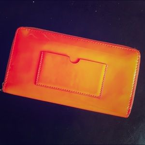 Reed Krakoff Accessories - Orange patent leather wallet