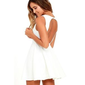 Lulu's Dresses & Skirts - LuLu's Gal About Town White Skater Dress
