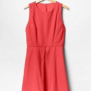 Gap linen coral dress