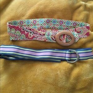 Accessories - Belt Bundle Vera Bradley and LL Bean