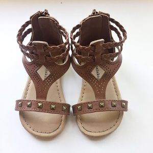 Other - Brown Studded Toddler Sandals