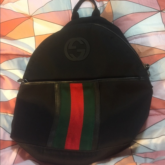 b0d1e71591d0 Gucci Handbags - Black Gucci Canvas Backpack PARANA