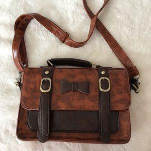 Handbags - Vintage cute brown bow bag 🎀