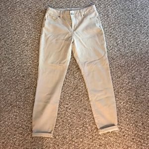 Tan Ankle Jeans