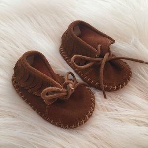 GAP Other - Baby Gap 3-6 Months Brown Leather Moccasins