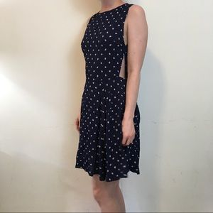 Reformation Dresses & Skirts - Reformation Navy Cut Out Paisley Skater Dress