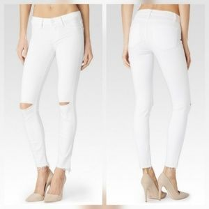Paige Jeans Denim - Paige Verdugo Ankle Skinny Destructed White Jeans