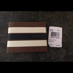 Coach Other - Coach Varsity Stripe Slim Bi-Fold Leather Wallet