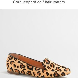J.crew Factory leopard calf hair loafers
