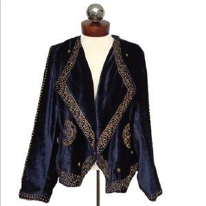 soft surroundings Jackets & Blazers - SOFT SURROUNDINGS velvet studded drape jacket