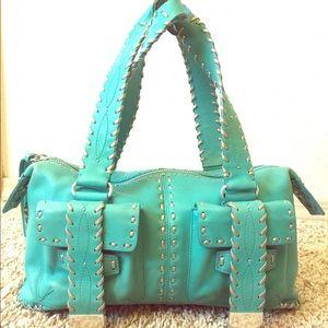 Michael Kors turquoise purse
