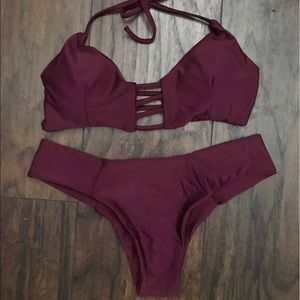 Other - NEW SUMMER MAROON CHEEKY STRAPPY SUMMER BIKINI SET