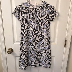 Retro Swirl Print Sweater Dress by Banana Republic