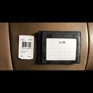 Coach Other - Coach Charcoal/Black ID Holder Slim Card Case