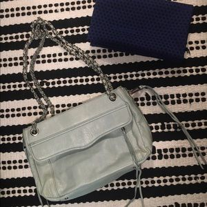 Rebecca Minkoff ice blue crossbody bag.