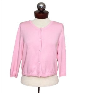 Lilly Pulitzer Sweaters - LILLY PULITZER baby pink cropped Cardigan