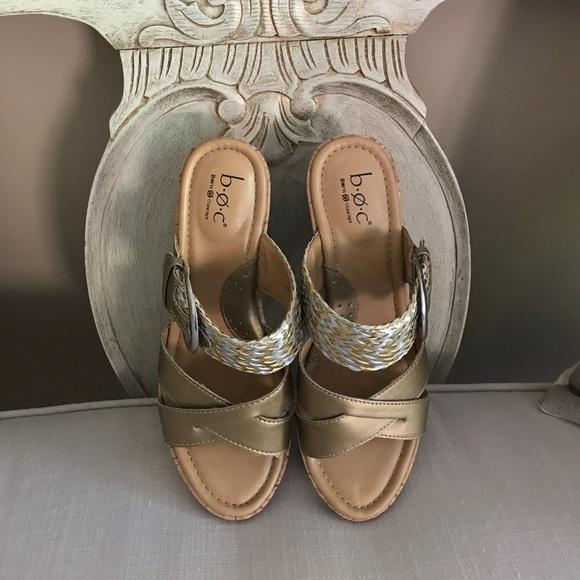 53 Off Born Shoes Boc Born Platform Wedge Jonna Sandals