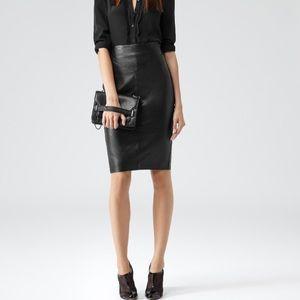 Reiss Dresses & Skirts - Reiss Black Leather Skirt