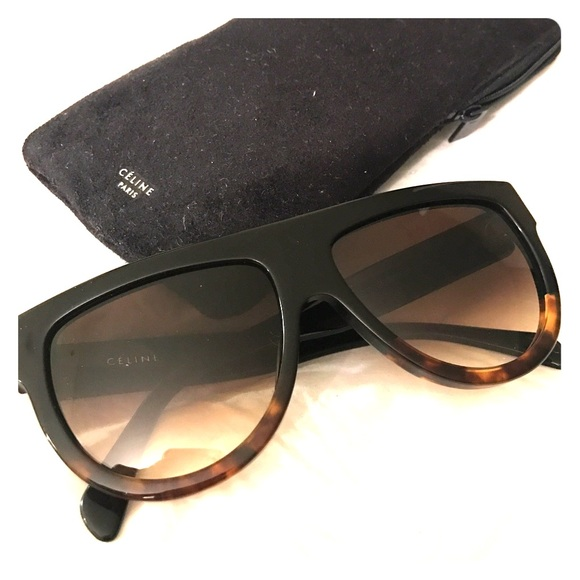 e014d4d610e Celine Shadow Sunglasses Black