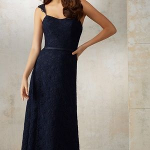 Mori Lee Dresses & Skirts - Mori Lee Bridesmaids Dress, Navy, Size 12