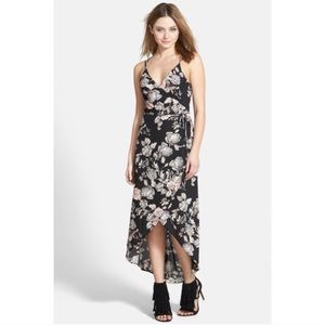 ASTR Floral Wrap Dress