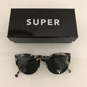 Super Sunglasses Accessories - Retro SUPER Future Lucia Puma Half Cateye Tortoise