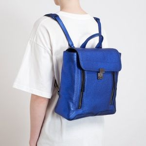 3.1 PHILLIP LIM Metallic Blue Pashli Backpack