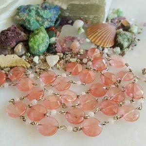 Vintage Cherry & Rose Quartz Necklace