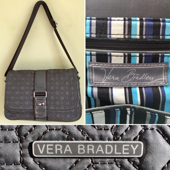 Vera Bradley Vera Bradley Grey Quilted Messenger