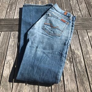 7 for all mankind Bootcut Jeans 24 Short