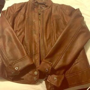Bernardo Jackets & Blazers - Bernardo Brown Leather Jacket