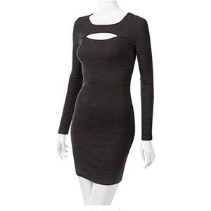 Doublju Dresses & Skirts - NWOT Black Long Sleeve Midi with keyhole