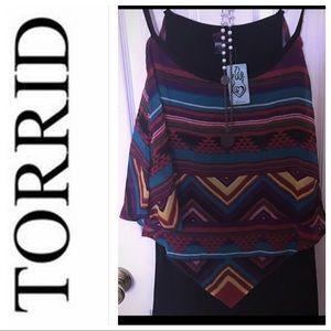 torrid Tops - Torrid NWT black tank w/ festival print overlay.