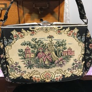 Vintage Italian Tapestry Purse Bag