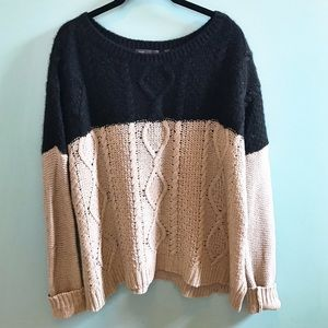 Vince Wool Blend Chunky Cable Knit Sweater