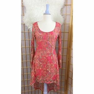 Snap Dresses & Skirts - Pink Paisley >> High / Low dress > L