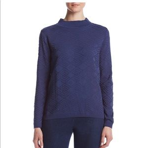 Alfred Dunner Mock neck pattern sweater