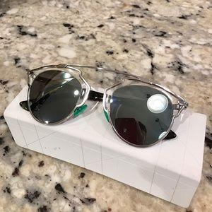 4eb7f98f3d95 Dior Accessories - Dior So Real palladium mirrored-lens sunglasses
