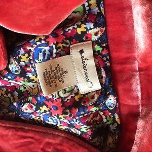 Anthropologie Jackets & Coats - Elevenses Crushed Orange Rust Velvet Jacket 8