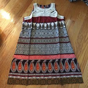 MSK Dresses & Skirts - SALE Crochet Neck Multi-Print Dress