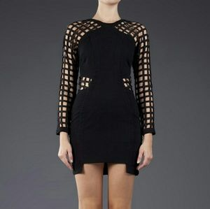 Shakuhachi Dresses & Skirts - Shakuhachi lattice cutout fitted cage dress