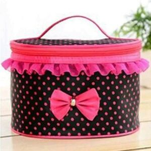 Black w pink trim now avail carry case beauty bag
